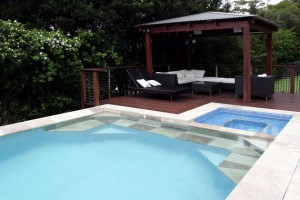A Freedom Pools swimming pool and spa