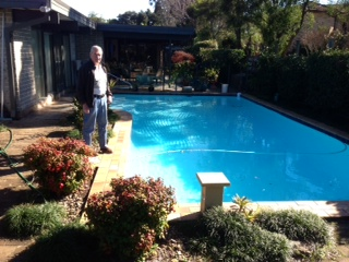Dads first pool 1